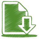 green-document-download-icon
